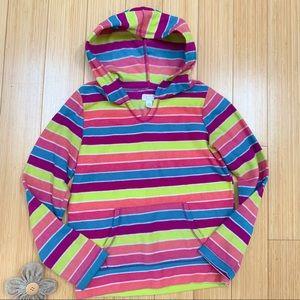 Girls TCP fleece hoodie jacket, M 10-12.
